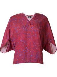 v-neck printed blouse Fernanda Yamamoto