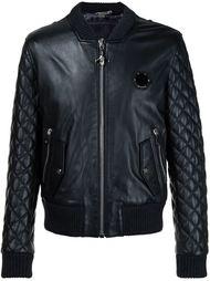 кожаная стеганая куртка-бомбер  Philipp Plein