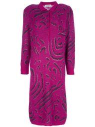 платье с узором Christian Dior Vintage