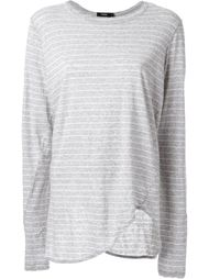 striped scoop hem longsleeved T-shirt Bassike
