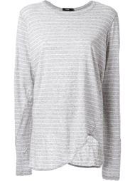 striped scoop hem longsleeved T-shirt Bassike