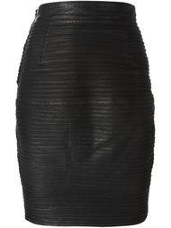юбка-карандаш в рубчик  Versace Vintage