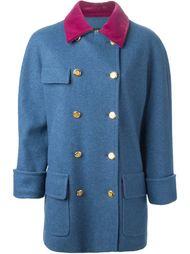 пальто с бархатным воротником Chanel Vintage