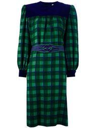 миди платье в клетку Givenchy Vintage