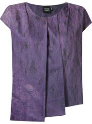 abstract print pleated blouse Fernanda Yamamoto