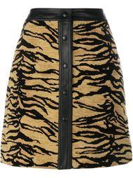 юбка с леопардовым принтом   Adam Lippes