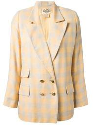 пиджак в клетку Hermès Vintage