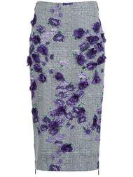 юбка-карандаш с цветочной вышивкой Jason Wu
