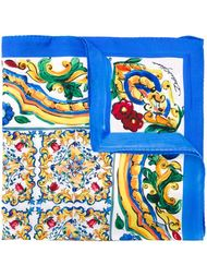 платок с принтом 'Majolica' Dolce & Gabbana