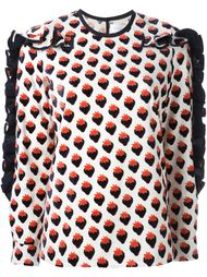 блузка с принтом клубники  Victoria Victoria Beckham