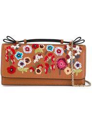 сумка на плечо с цветочными элементами Red Valentino