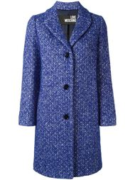 tweed buttoned coat Love Moschino
