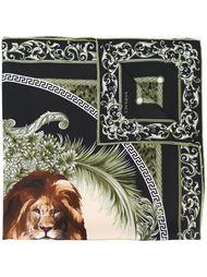 шарф с принтом льва Versace