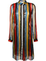 embellished striped shirt dress Marco De Vincenzo