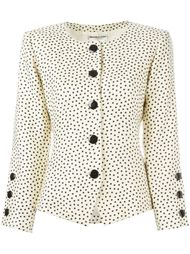 пиджак в горошек Yves Saint Laurent Vintage