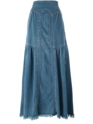 maxi denim skirt Chloé
