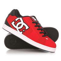 Кеды кроссовки низкие DC Net Red/Black/White