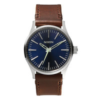 Часы Nixon Sentry 38 Leather Blue/Brown