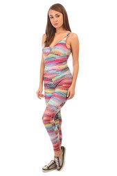 Комбинезон для фитнеса женский CajuBrasil Bojo Estampado Su Pink/Light Blue