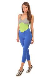 Комбинезон для фитнеса женский CajuBrasil Nz Overall Legging Sport Blue/Grey