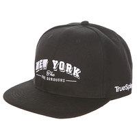 Бейсболка с прямым козырьком TrueSpin New York Black
