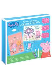 Роспись жемчугом Свинка Пеппа Peppa Pig