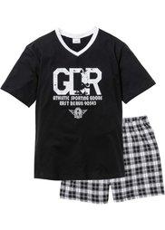 Пижама с  шортами (белый/красный) Bonprix