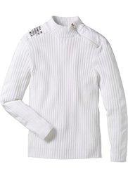 Пуловер Slim Fit (черный) Bonprix