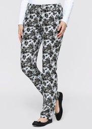 Узкие брюки-стретч (серебристый матовый/шиферно-се) Bonprix