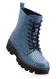Ботинки на шнурках (серый) Bonprix