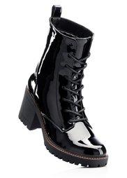 Ботинки на шнурках (темно-зеленый) Bonprix