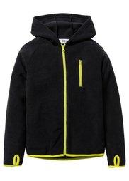 Флисовая куртка с контрастными деталями, Размеры  116/122-164/170 (ледниково-синий/темно-синий) Bonprix