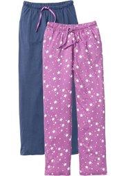 Трикотажные брюки (черный/цветочный принт) Bonprix