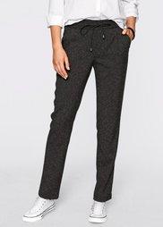 Меланжевые спортивные брюки (антрацитовый меланж) Bonprix