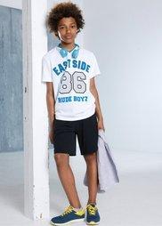 Функциональная футболка, Размеры  116/122-164/170 (белый с рисунком) Bonprix