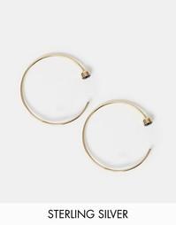 Серьги‑кольца из позолоченного серебра ASOS - Черный
