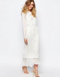 Белое платье макси Stevie May Clear Array - Белый