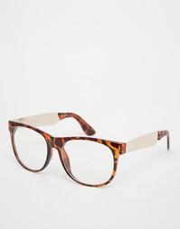 Очки с прозрачными стеклами в черепаховой оправе Jeepers Peepers Vince
