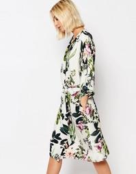Платье-кимоно с цветочным принтом Gestuz - Мульти
