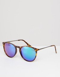 Круглые солнцезащитные очки в стиле ретро ASOS - Черепаховый