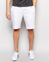 ASOS Skinny Mid Length Shorts In White - Белый