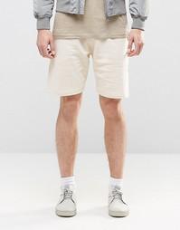 Бежевые трикотажные шорты ASOS - White cap grey