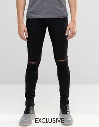 Черные джинсы с разрезами на коленках Brooklyn Supply Co Hunters