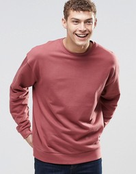 ASOS Oversized Sweatshirt In Red - Washed ruddy