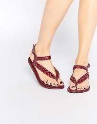 Плетеные кожаные сандалии Park Lane - Красный