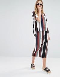 Monki Stripe Midi Tube Skirt - Мульти