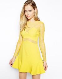 Платье Three Floor One Oh One - Желтый