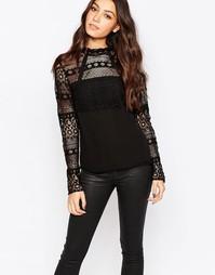 Кружевная блузка Y.A.S Bensa - Черный