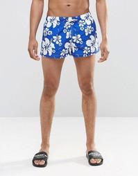 Короткие шорты с принтом Swells - Темно-синий