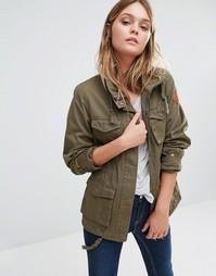 Куртка в стиле милитари Blend She - Цвет виноградного листа